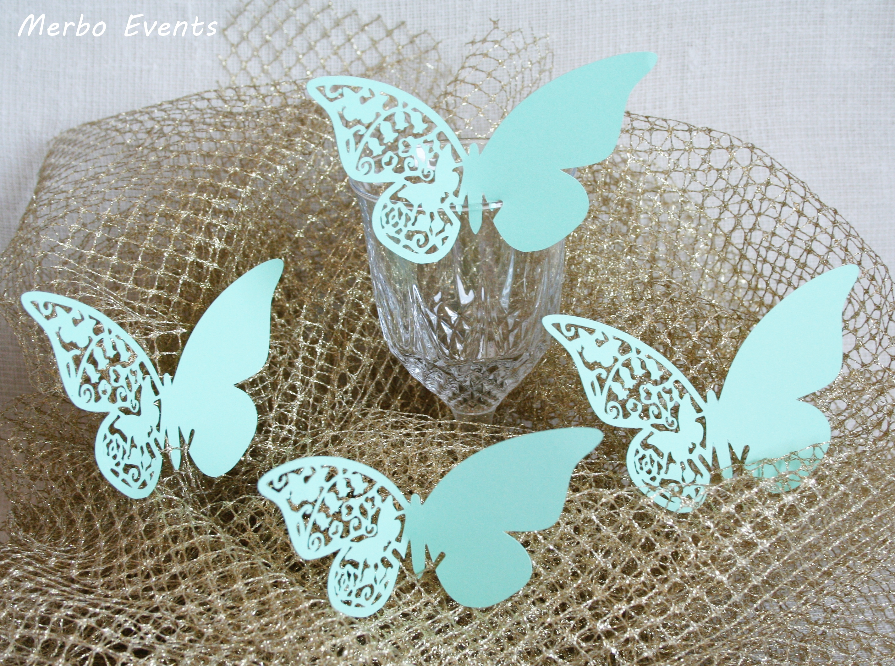 Mariposas para copas boda Merbo Events
