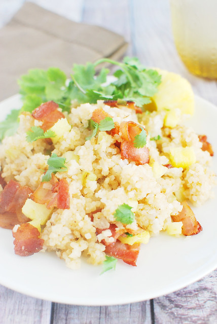 pineapple fried rice featuring success boil in bag basmati rice