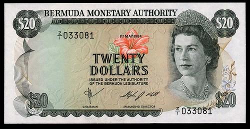 Bermuda Monetary Authority $20 replacement note