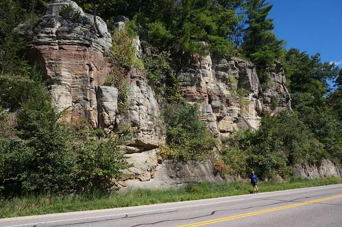 Bluffs near the rail trail