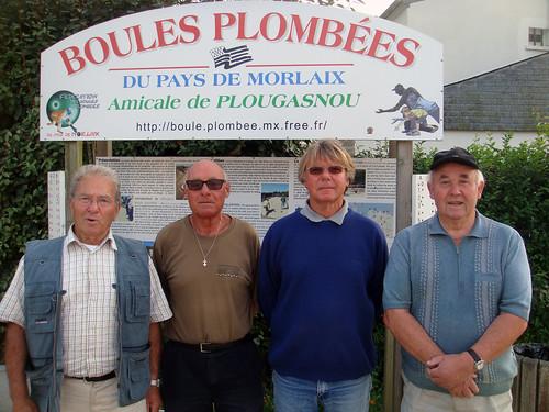 13/09/2014 - Primel Trégastel (Plougasnou) : Les finalistes du concours de boules plombées en doublettes formées