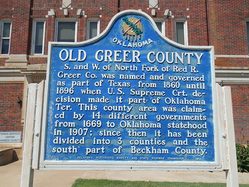 Old Greer County Marker