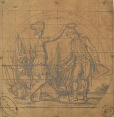 Daniel Morgan medal obverse sketch