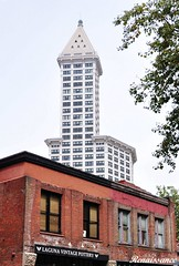 Smith Tower panoramic views of Seattle