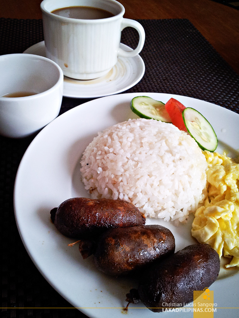 Breakfast at Hotel Felicidad in Vigan City