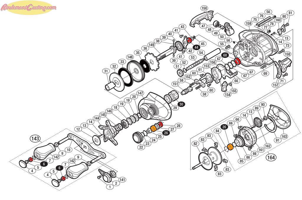 Schéma Shimano Chronarch CI4+ 151/151 HG