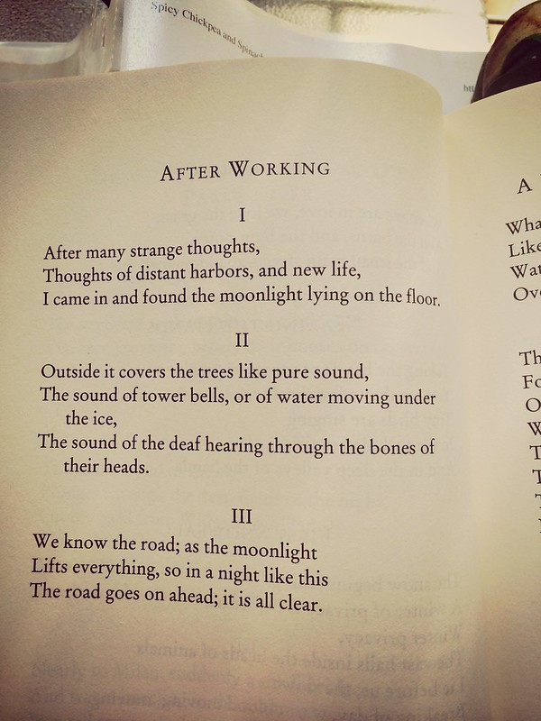 After Working, by Robert Bly