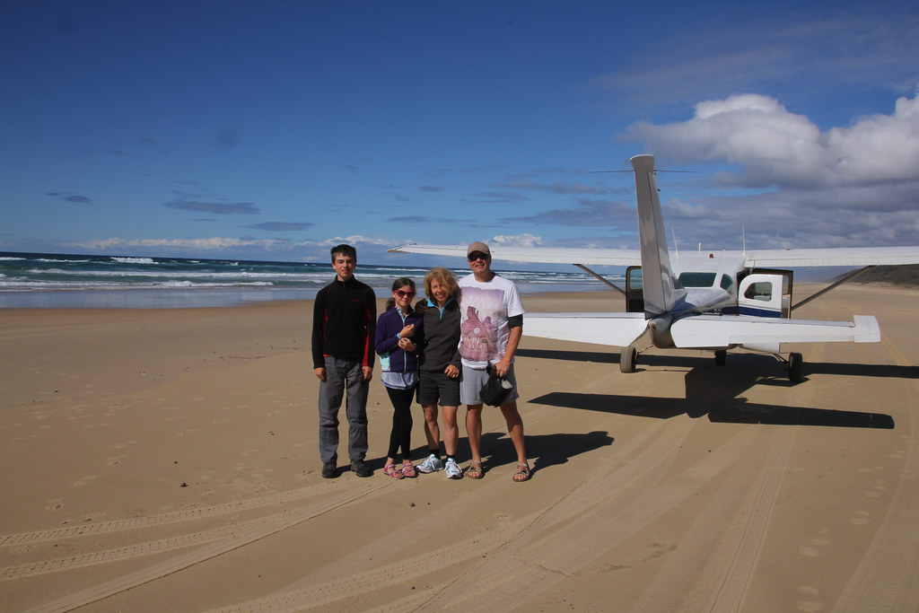 75 mile beach, eurong resort, fraser island, kingfisher resort, maheno shipwreck, rainbow cliffs, red canyon, stonetool sandblow, eli creek, cessna, central station, rainforest, lake mckenzie