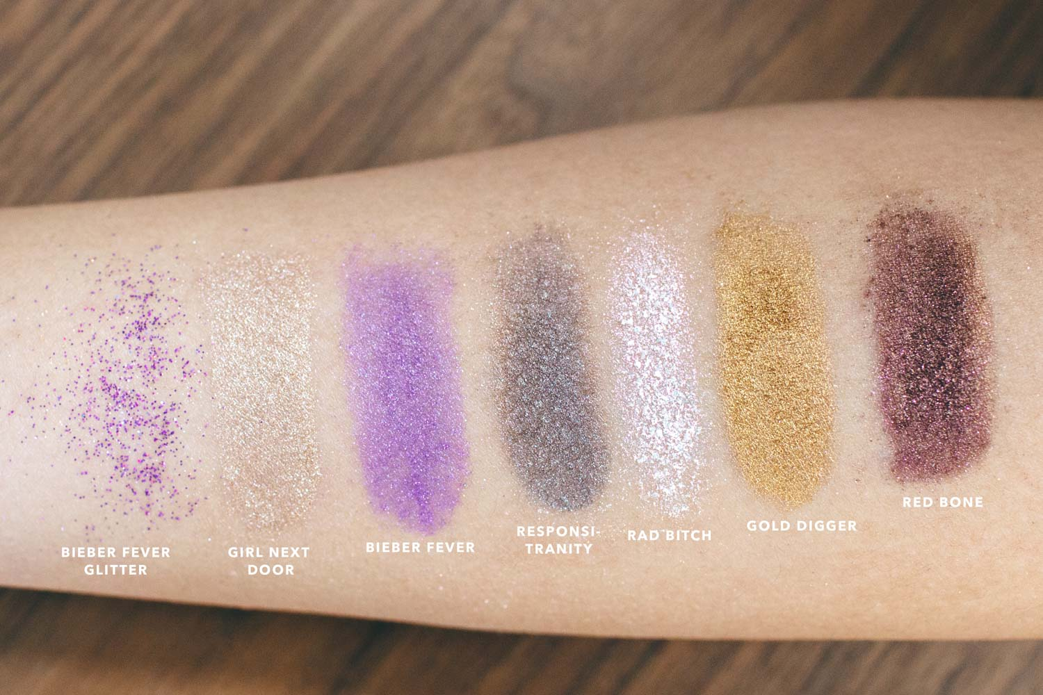 Swagger Cosmetics Swatches