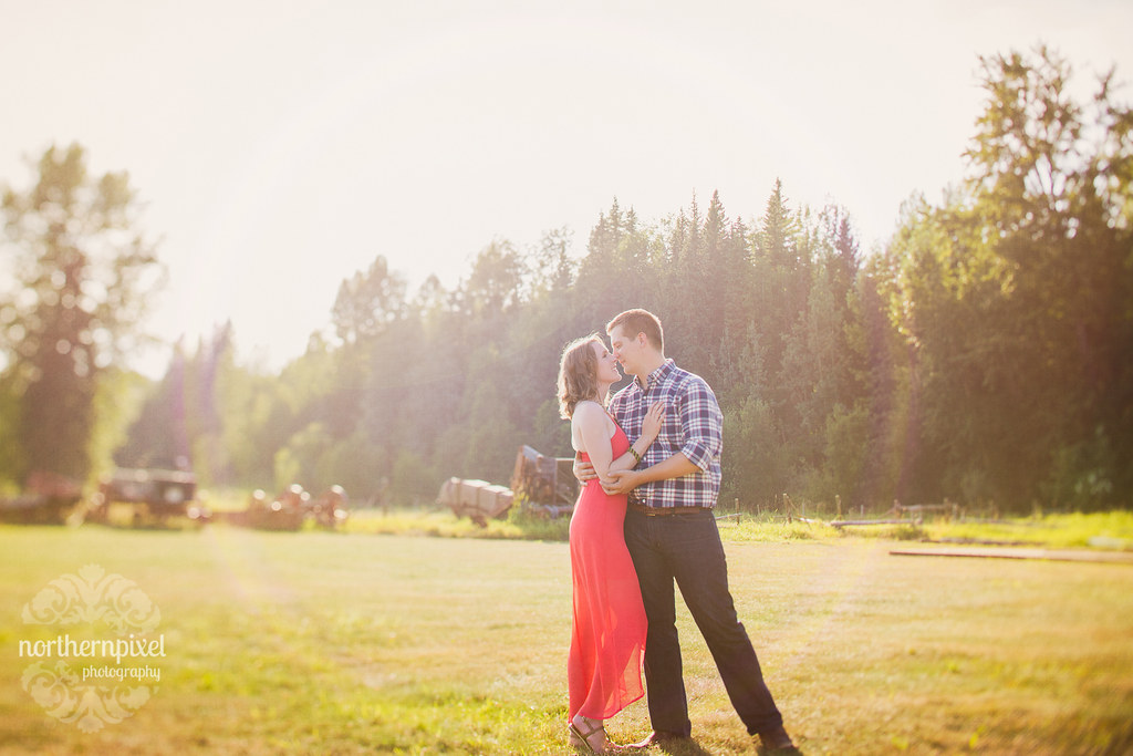 Engagement Session at Huble Homestead near Prince George