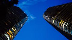 Blue sky at dusk