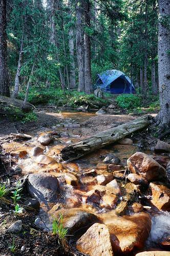 camping water colorado stream tent campsite fourmilecreek cragscampground gettinghigh2014