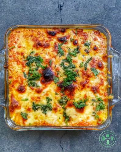 Whole Grain Barley, Eggplant and Tomato Gratin | by atl10trader