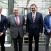 Achim Barchmann begrüßt den georgischen Botschafter Lado Chanturia zum Gespräch