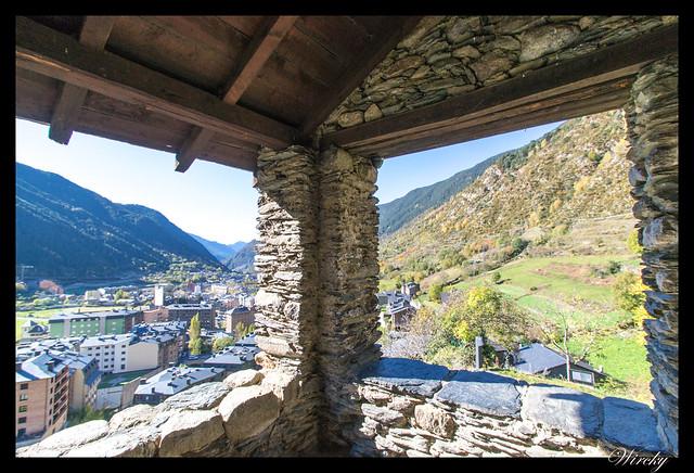 Conjunto histórico de Les Bons - Vista del valle desde la Iglesia Sant Romà de Les Bons