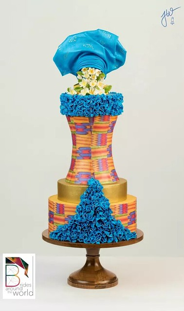 Beautiful Wedding Dress from Ghana by Jeanne Winslow Cake Design