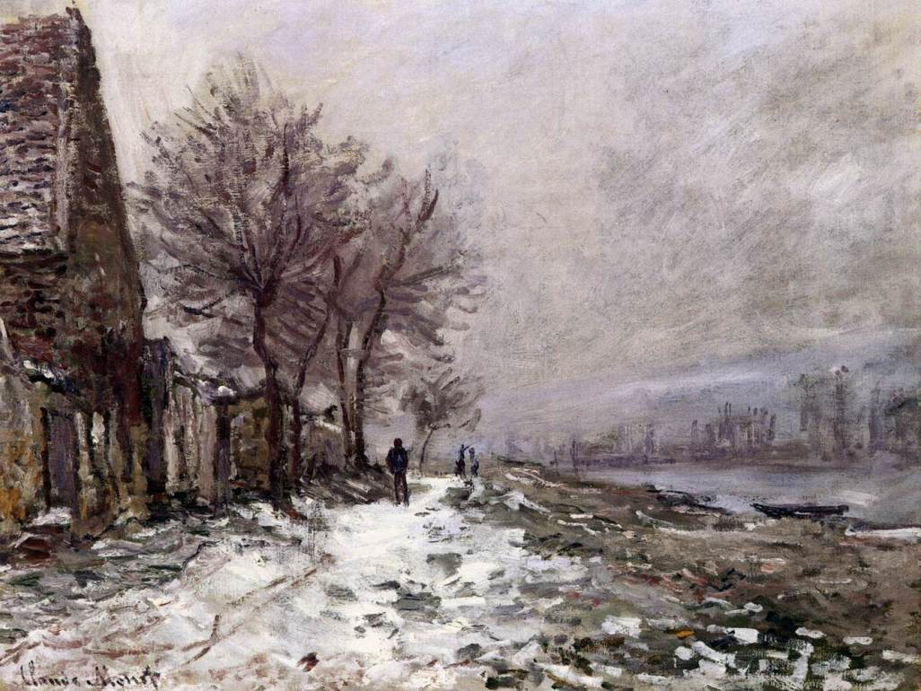 Lavacourt in Winter by Claude Oscar Monet - 1879