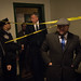Mayor Bill de Blasio and Commissioner Steven Banks visit an apartment in the Bronx where two young children were tragically killed this afternoon on Wednesday, December 7, 2016.  Michael Appleton/Mayoral Photography Office