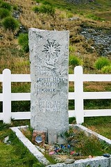 Ernest Shackleton's grave in Grytviken on South Gerogia