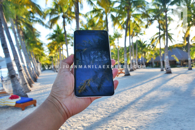 CAPTURED BY KATA M1. Our sleek phablet capturing the beauty of Bohol Beach Club beach front.
