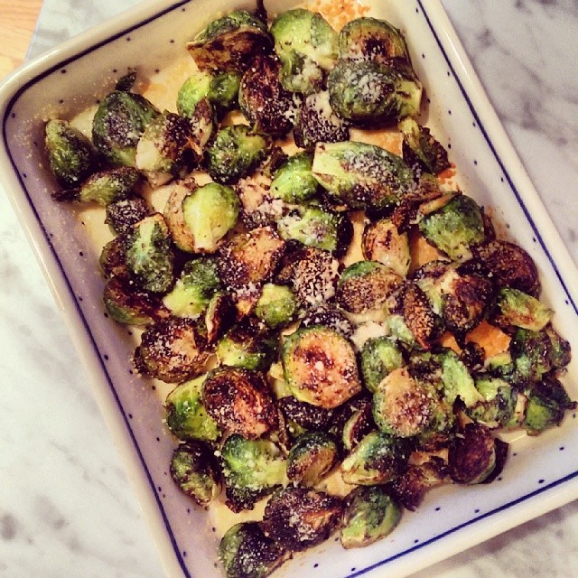 We like our brussels sprouts toasty #eatyourveggies