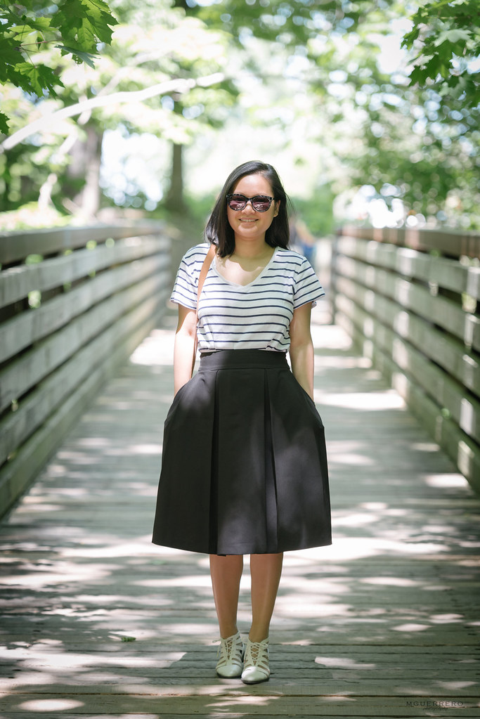 stripes and midi skirt 03