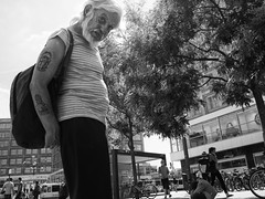 Berlin Alexanderplatz - Old man with Tattoos