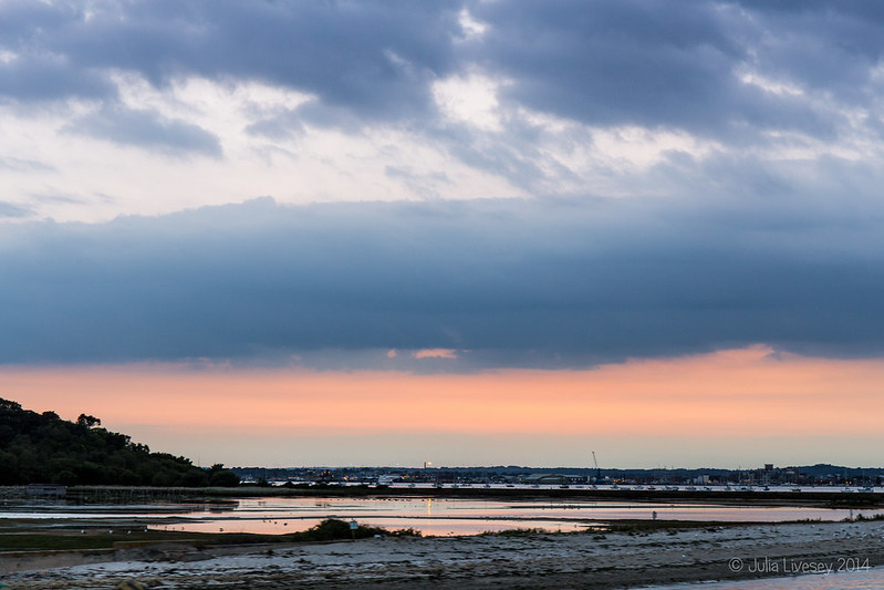 Sunset over Brownsea Lagoon