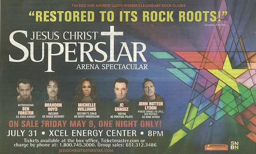 (Canceled) 07/31/14 Jesus Christ Superstar @ Xcel Energy Center, St. Paul, MN
