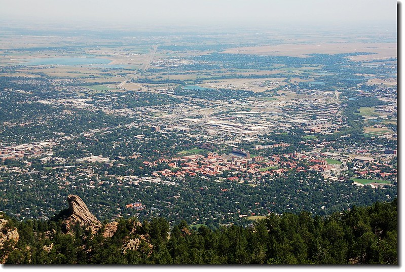 Overlooking Boulder downtown from Green's summit 4