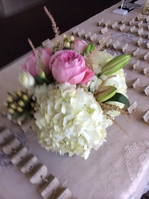 Wedding centerpiece by Farah florist
