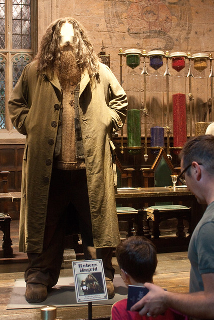 Hagrid costume Warner Bros Studio London