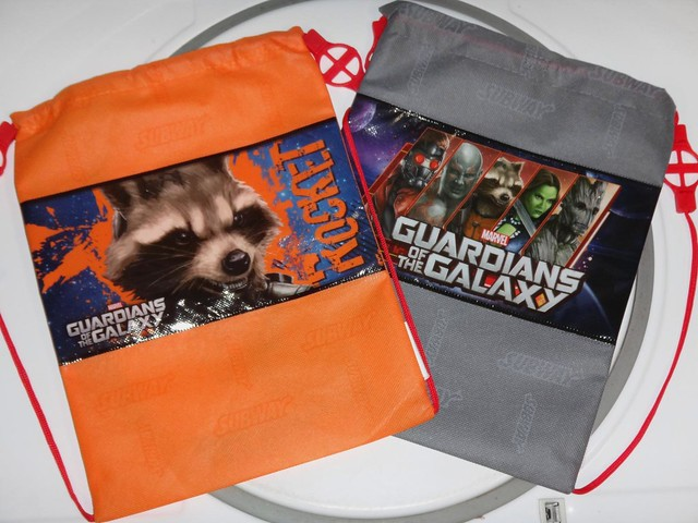 Guardians of the Galaxy Subway cinch bags