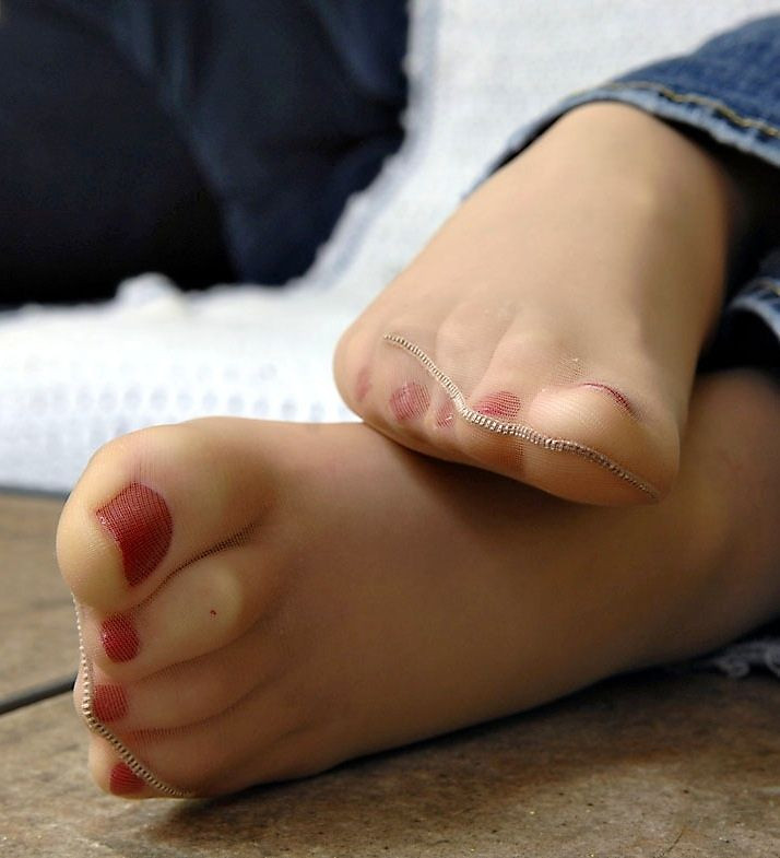 Sexy pantyhose feet close up rather valuable