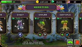 My Singing Monsters on PS Vita