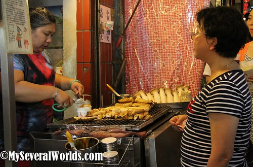 Grilled King Mushrooms in Jiufen Taiwan