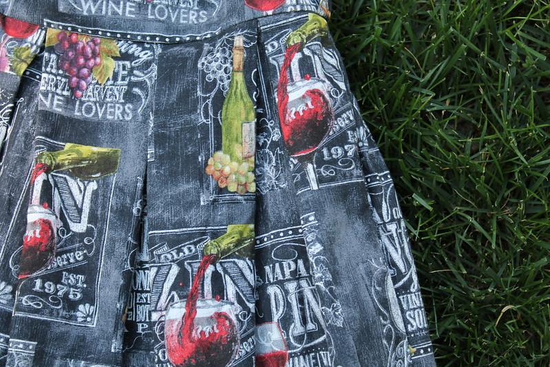 Sarah's Wine Skirt