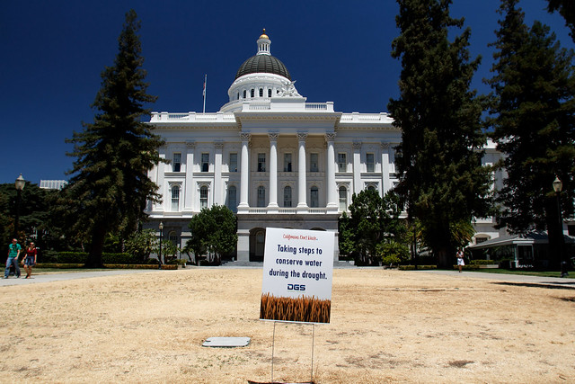 Sacramento Capitol During The Drought