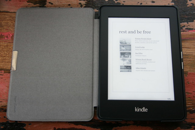 Each villa comes with a Kindle that doubles as an info guide