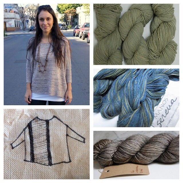 Daydreaming about casting on for the boxy sweater, stash busting with some sport weight yarn...