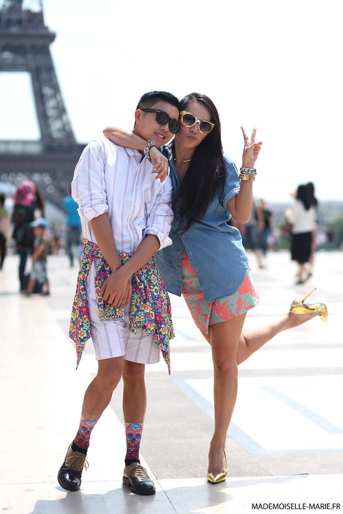 Declan Chan and Tina Leung at Paris Fashion Week menswear day 2