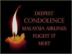 Condolence to Flight MH 17