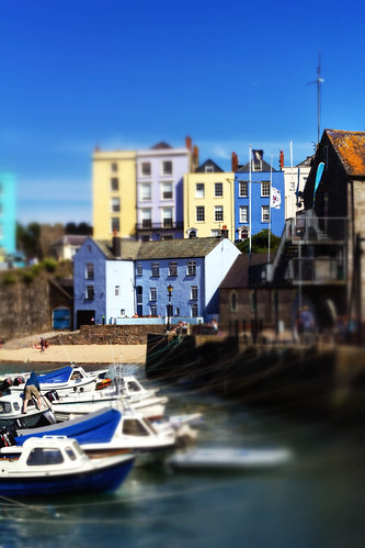wales canon boats harbour pembrokeshire tenby