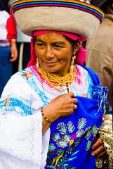 Indigenous Lady at Inti Raymi, Ottovalo