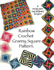 Rainbow Granny Square Pattern