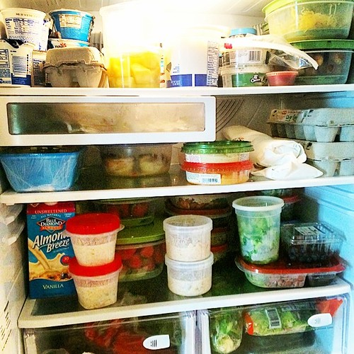 Inside our #fridge! I've already meal prepped for the week. Have you? #sundaysetup #mealprep #healthyeats #lunch #dinner #tiuteam #fitfluential