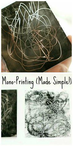 Mono-printing