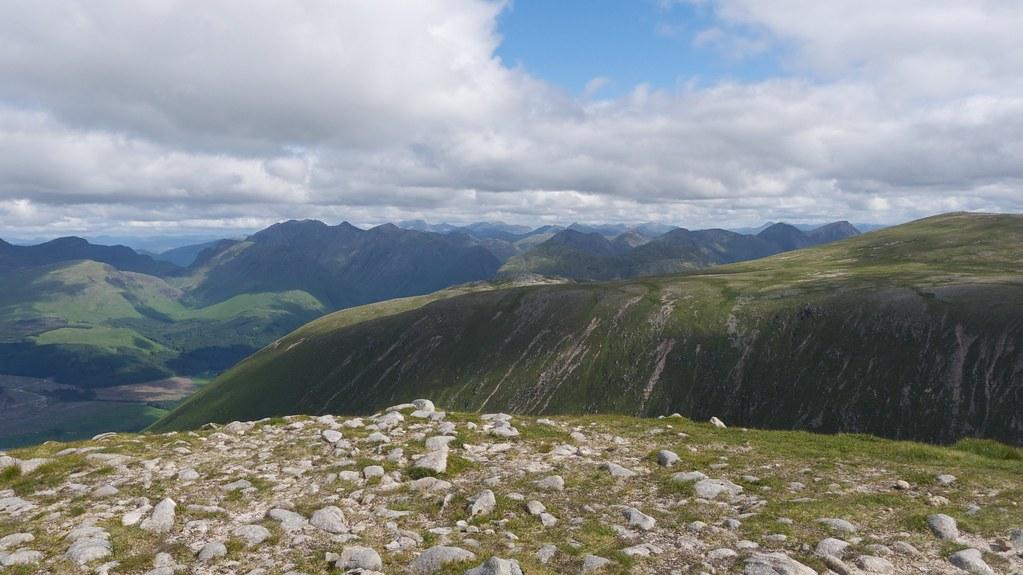 Glencoe mountains from Glas Bheinn Mhor