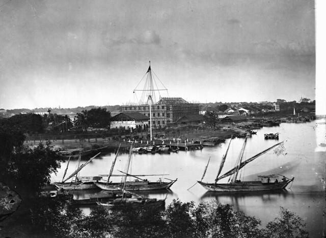 Saigon, Cochin China - Photograph by John  Thomson, 1867. - Bức ảnh rất lớn cho thấy rõ nhiều chi tiết