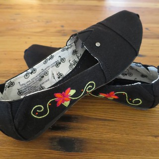 Iron Craft '14 Challenge #15 - Embroidered Shoes